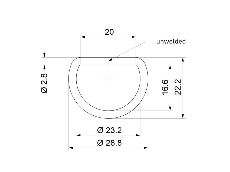 D-ring dimensions